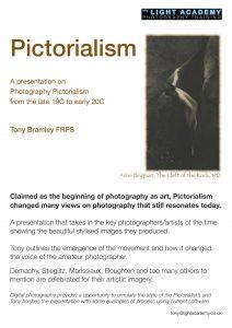 pictorialism camera club talk