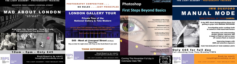 photography training essex colchester cambridge london