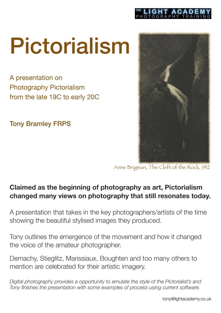 pictorialism camera club talk