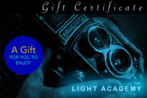 photography training gift card